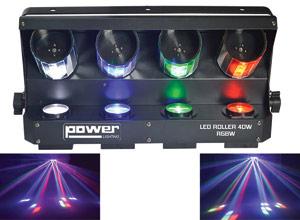 video jeux lumiere roller scan 4x10w rgbw power lighting. Black Bedroom Furniture Sets. Home Design Ideas